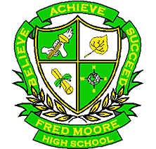 Fred Moore High School logo